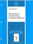 PDA Technical Report No. 12, (TR 12) Siliconization of Parenteral Drug Packaging Components