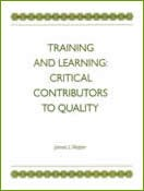Training and Learning Critical Contributors to Quality (single user digital version)