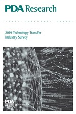 PDA Research: 2019 Technology Transfer Industry Survey (single user digital version)